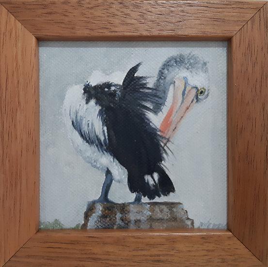 Australian Pelican Painting - Mini 3