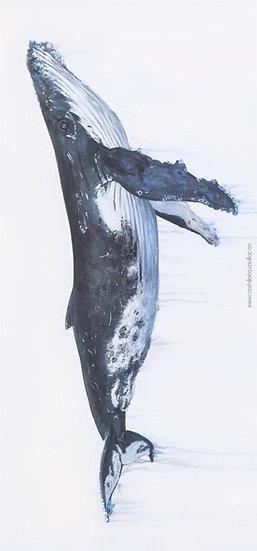 Humpback whale sand free beach towel