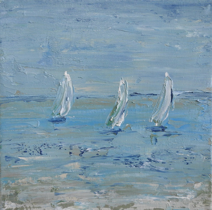 sailing boat painting sold