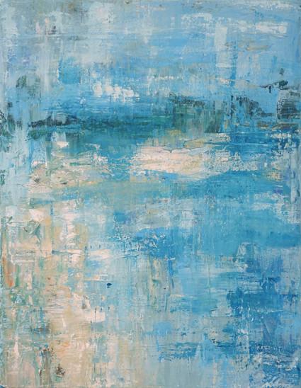 beach abstract painting, coastal dreams