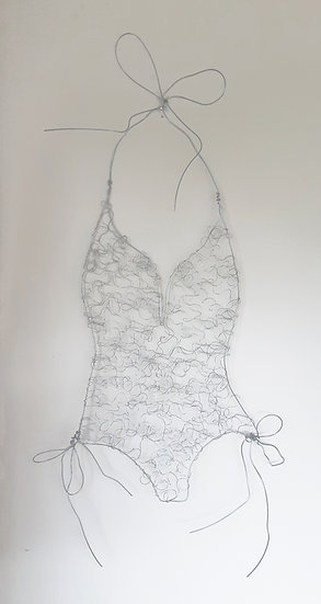 Swimsuit Wire Sculpture