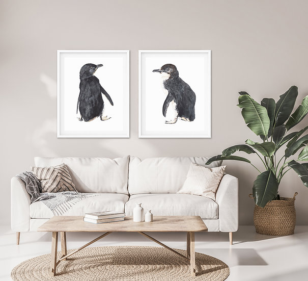 Penguin Print Set B - Set of 2