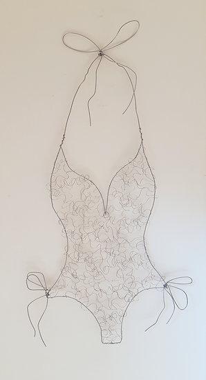 Swimsuit Wire Sculpture