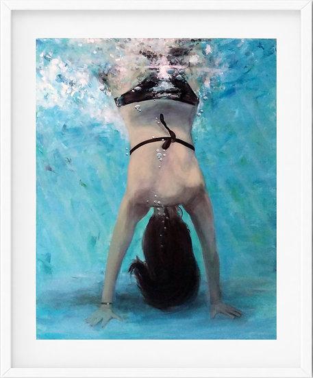 Underwater Handstand - limited edition print 6/100