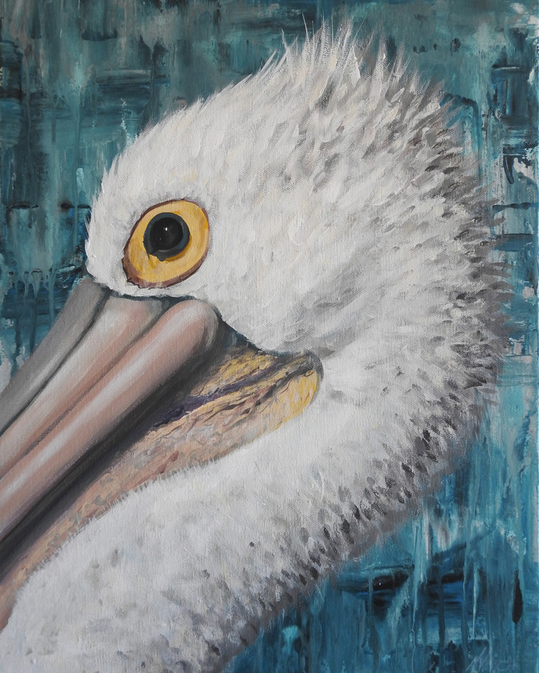 Pelican painting head - Sold