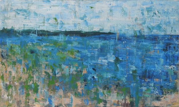 coastal abstract painting sold