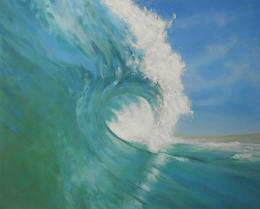 large wave painting central coast artist