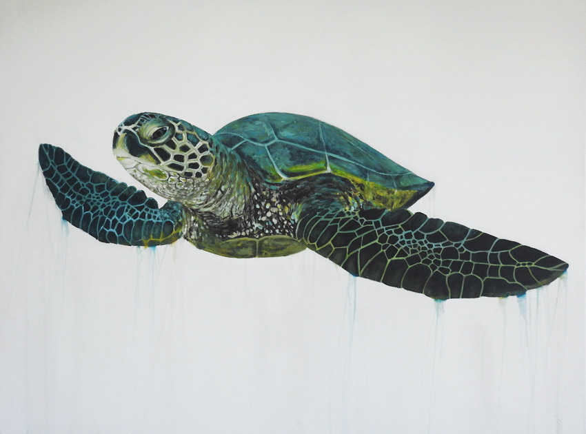 sea turtle painting sold
