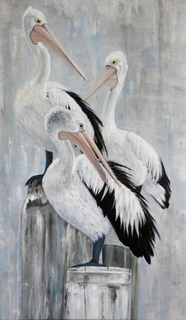 pelican painting central coast artist Na