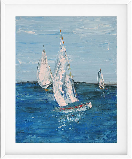 Sailing Boat- limited edition print 2/100