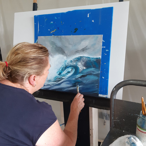 art class - learn to paint a wave