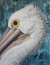 pelican head painting central coast arti