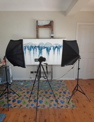 Photographing art in the studio.jpg