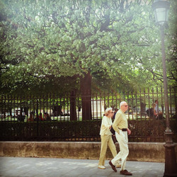 old couple paris