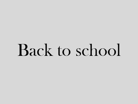 - BACK TO SCHOOL -