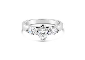 Orion Joel Custom Jewellery - Custom made 3 Stone Marquise diamond engagement ring