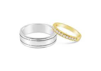 Orion Joel Custom Jewellery - His and hers wedding rings