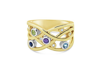 Orion Joel Custom Jewellery - Gold dress ring using clients old and unworn gold and gemstone jewellery