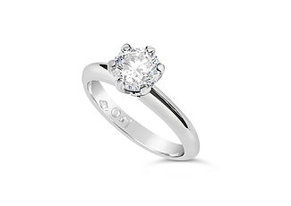 Orion Joel Custom Jewellery - Claw platinum solitaire diamond engagement ring
