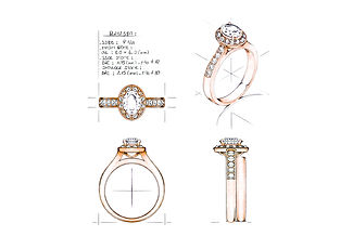 Orion Joel Custom Jewellery - Rose gold engagement ring