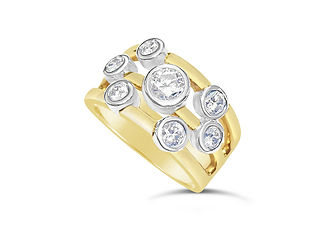 Orion Joel Custom Jewellery - Custom made  dress ring using the diamonds gold from our clients' old and unworn jewellery.
