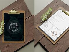 Rhys Coffee Menu Tasarımı