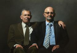 Peter en Daan olieverf op doek 78 x 110