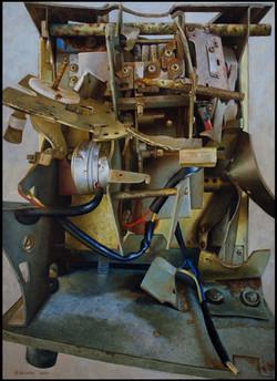 Prikklok-Jacob Vis Lakfabriek-olieverf op paneel-56,5 bij 78 cm