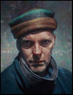 zelfportret 2013-acryl op paneel-29 bij 39cm