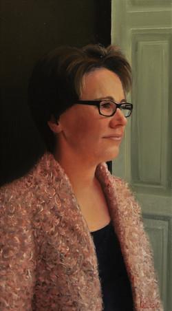 Karin olieverf op paneel 24 x 45 cm