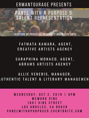 Panel with Purpose 9: Talent Representation