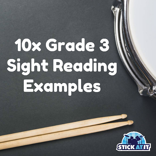 10 Sight Reading Exercises for Grade.3