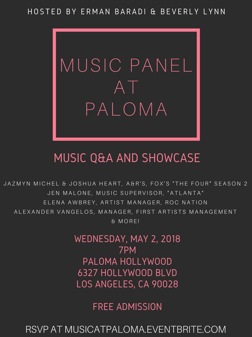Music Panel at Paloma