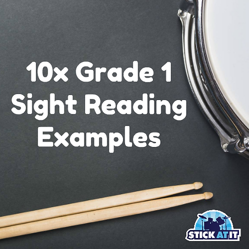 10 Sight Reading Exercises for Grade.1