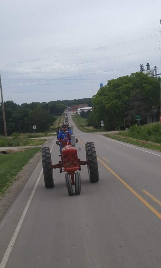 After Lunch. Heading Out of Aurelia, Iowa