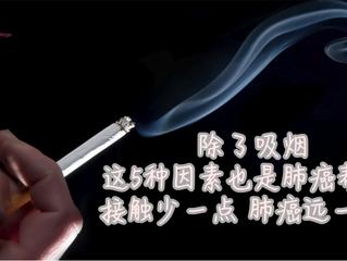 除了吸烟 这5种因素也是肺癌帮凶!接触少一点 肺癌远一点 !