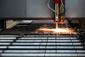 Industrial cnc plasma cutting of metal p