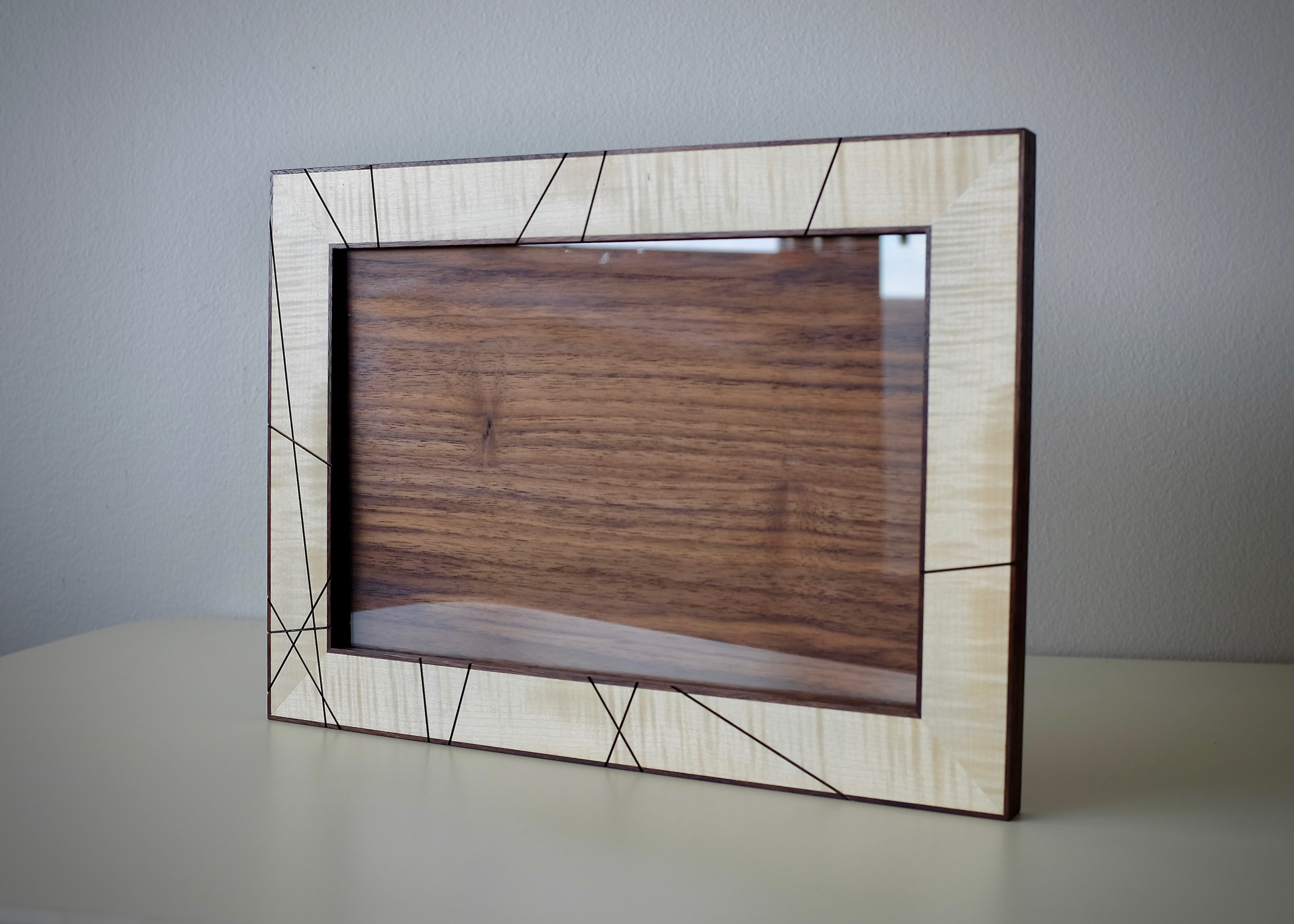 Walnut and Sycamore picture frame