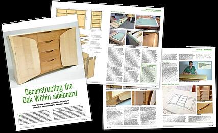 Furniture & Cabinetmaking magazine article - Chris Wiseman Oak Within Sideboard