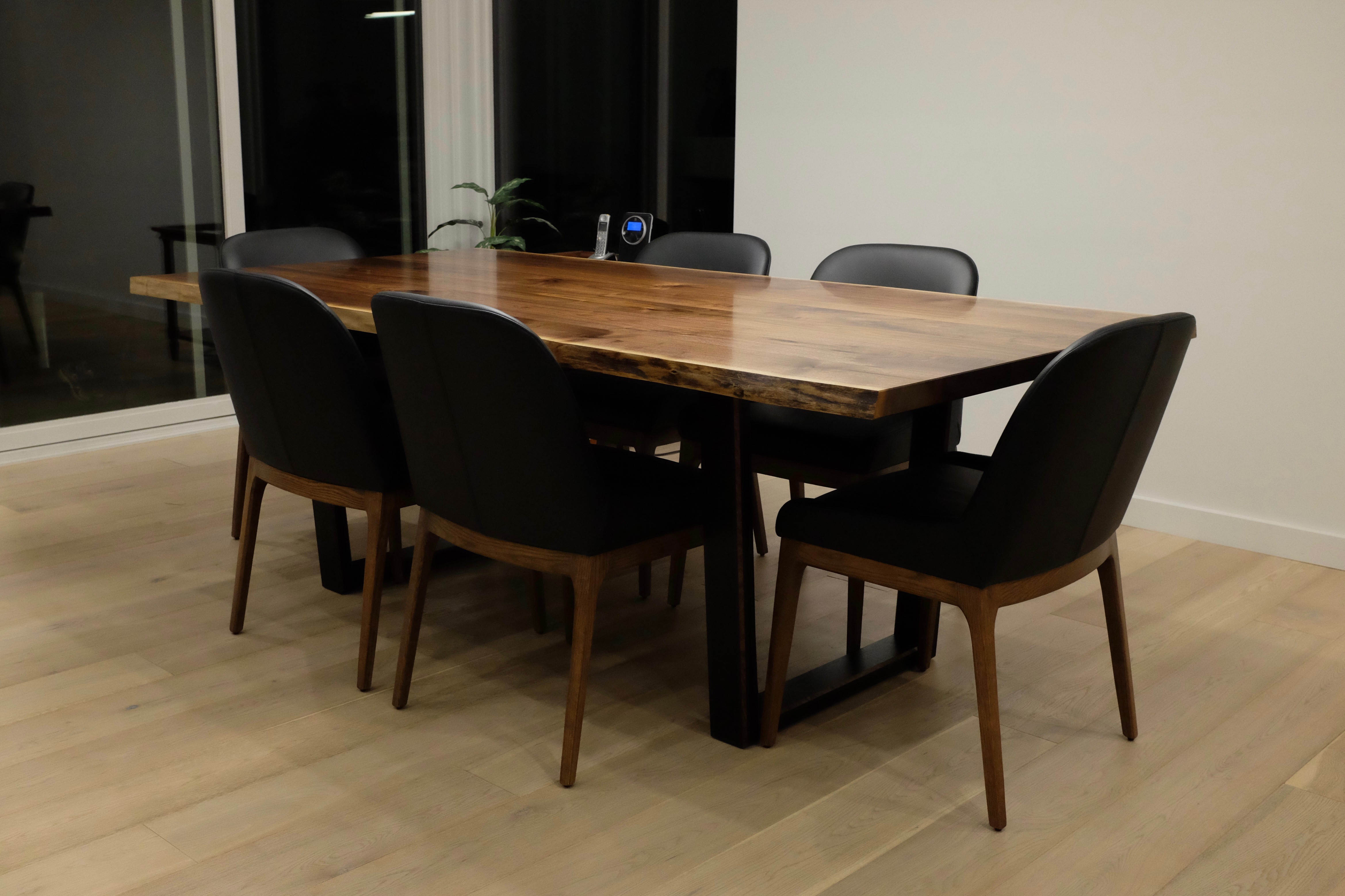 Walnut live-edge dining table