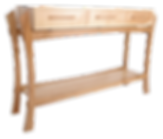 Console table by Chris Wiseman of Wiseman Woodworks. Ash and Cherry wood. Fine bespoke woodwork