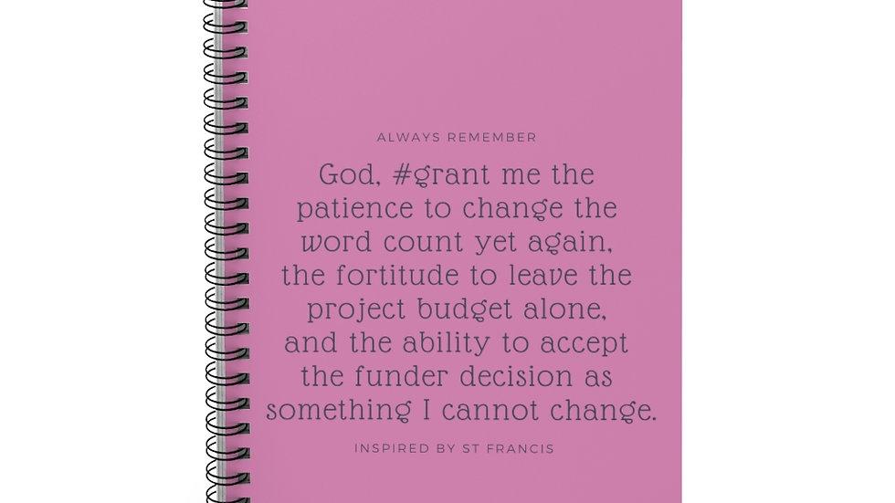 Grant Pro Serenity Prayer Spiral Notebook - Ruled Line