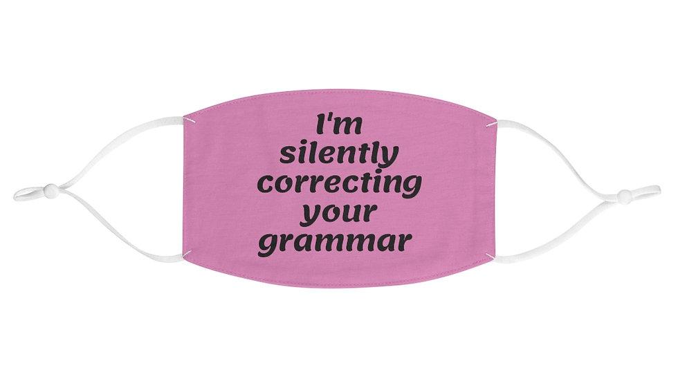 Grammar Fabric Face Mask