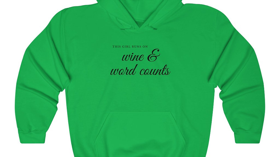 Wine and Word Counts Hooded Sweatshirt