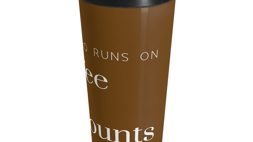 Coffee and Word Counts Stainless Steel Travel Mug