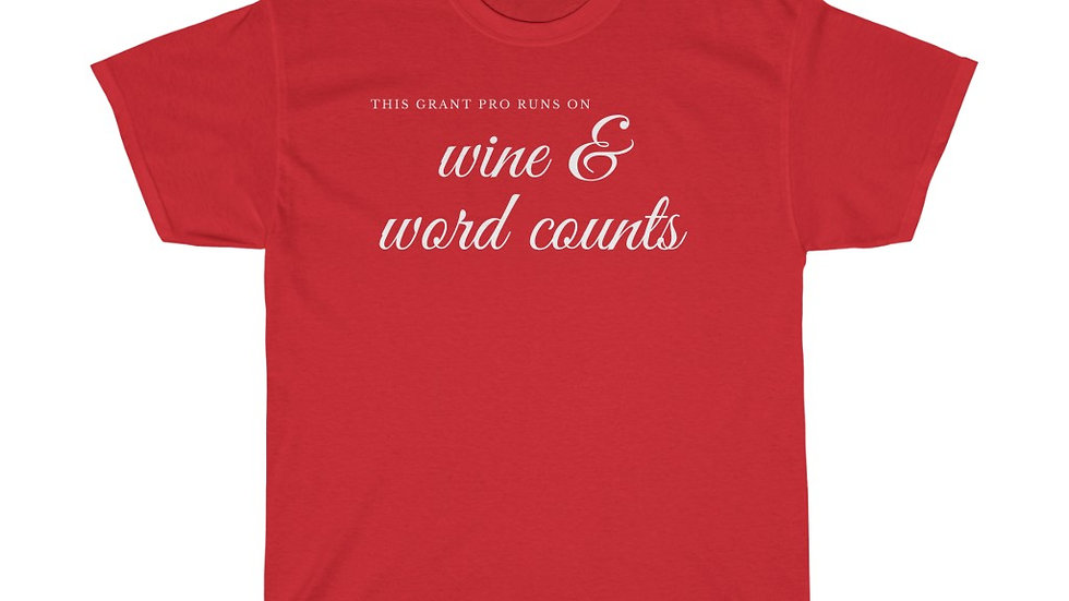 Wine and Word Counts Unisex Heavy Cotton Tee
