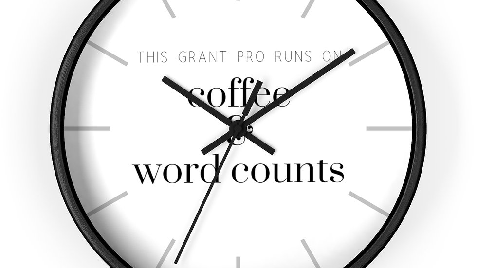 Coffee and Word Counts Wall clock