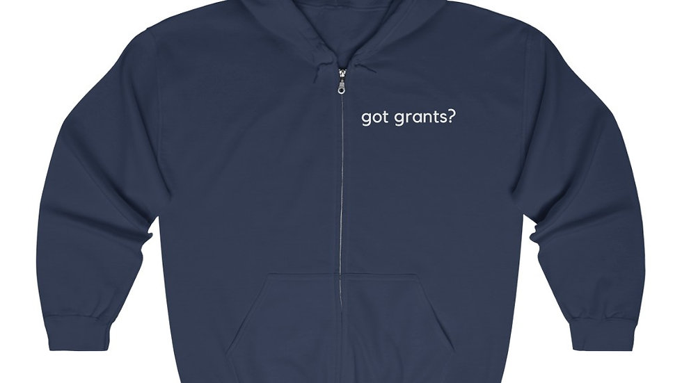 Got grants? Unisex Heavy Blend™ Full Zip Hooded Sweatshirt