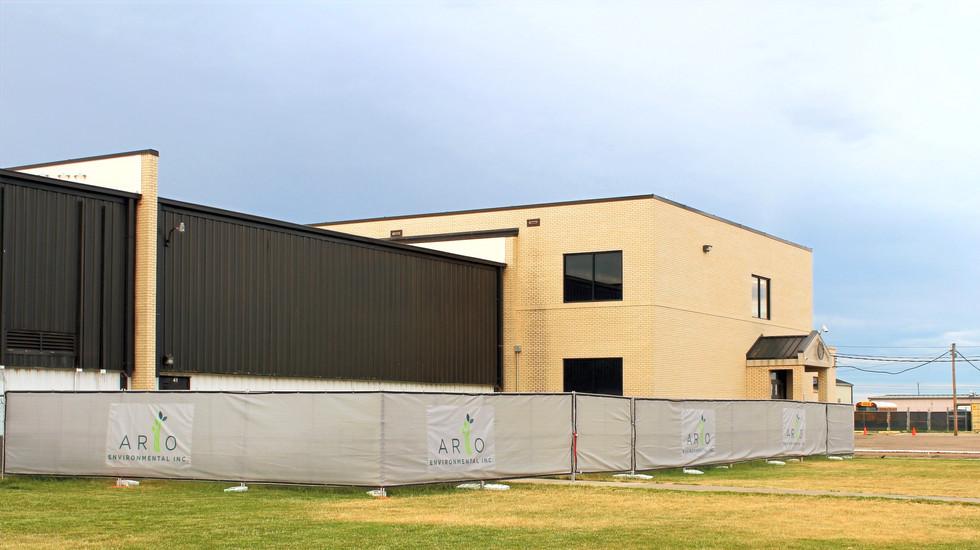 Construction Fencing Around Work Area