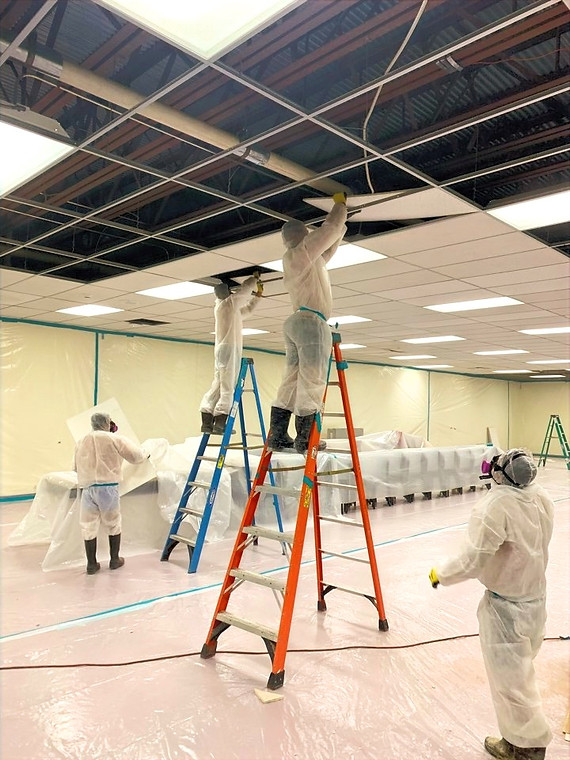 Removal of Asbestos Containing Ceiling Tiles from a School